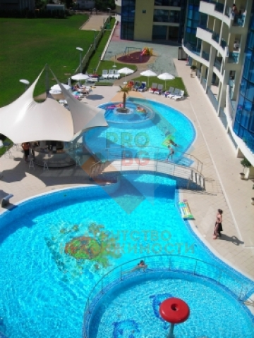 Twobedroom apartment in a famous aparthotel just 100 m from the beach.