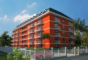 Apartments in Sunny Beach resort low prices - complex Gerber